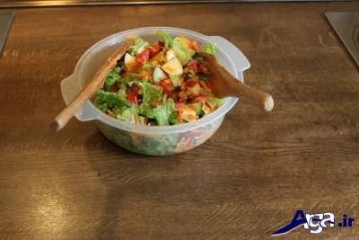 مخلوط سبزیجات سالاد تن ماهی
