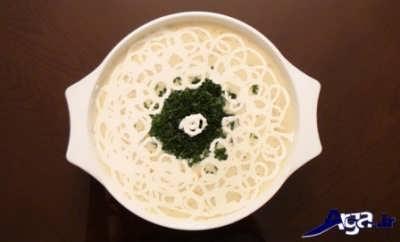 تزیین سوپ سفید