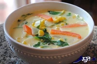سوپ سفید لذیذ