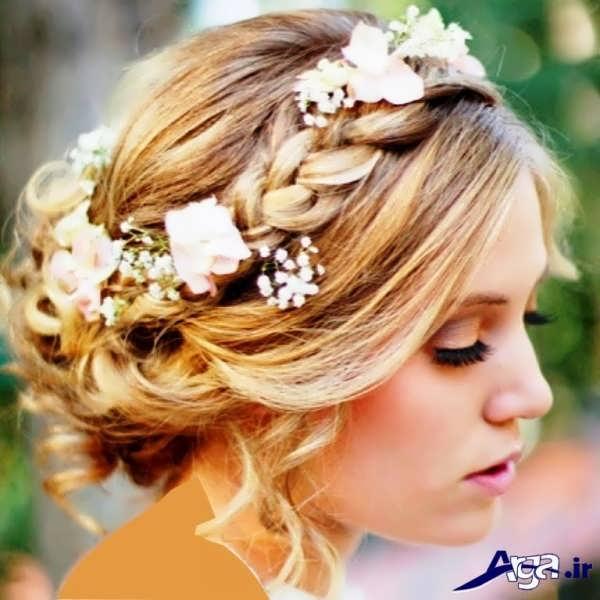 آرایش زیبا و شیک موی عروس