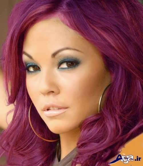 رنگ موی شرابی ارغوانی