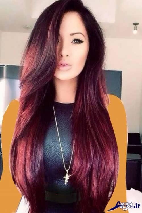 رنگ موی شرابی جذاب