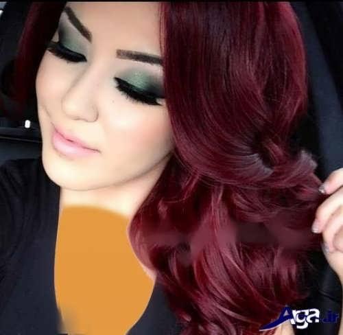 رنگ موی شرابی زیبا