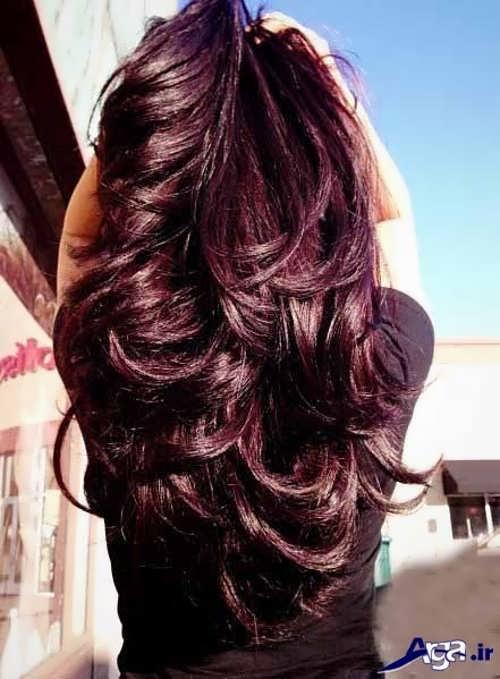 رنگ موی ماهگونی یا شرابی تیره