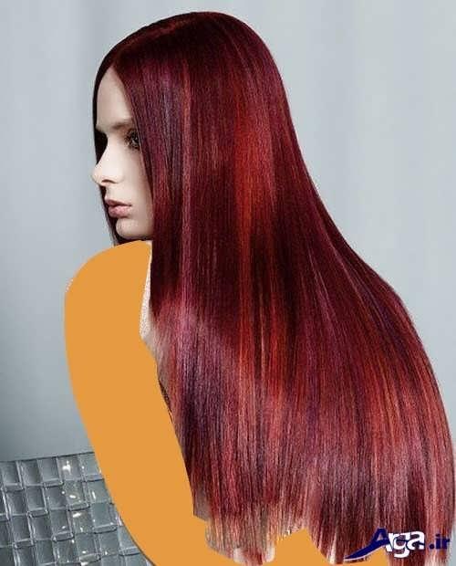 مدل های رنگ موی شرابی دخترانه و زنانه