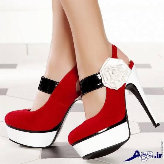 کفش زنانه با طرح گل
