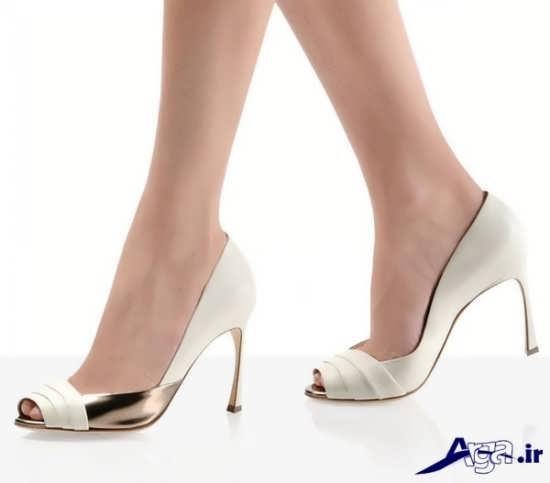 مدل کفش پاشنه بلند با رنگ سفید