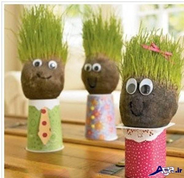 سبزه عید نوروز کودکانه