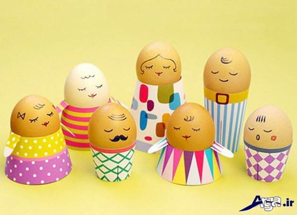 تزیین تخم مرغ کودکانه