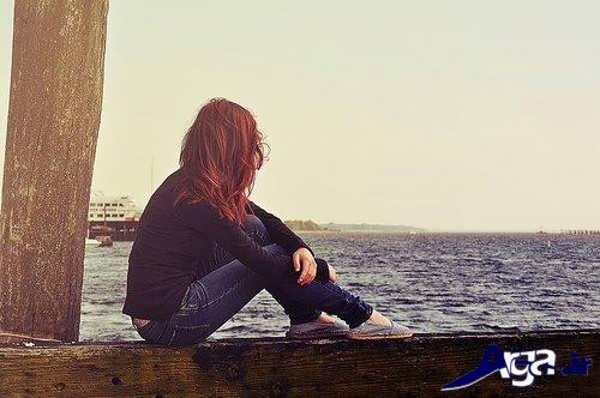 عکس عاشقانه تنهایی کنار دریا | عکس عاشقانه تنهایی کنار ...