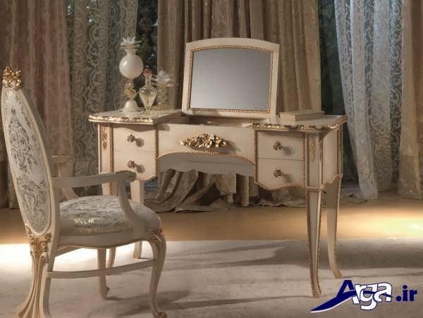 مدل میز آرایش با آینه کوچک