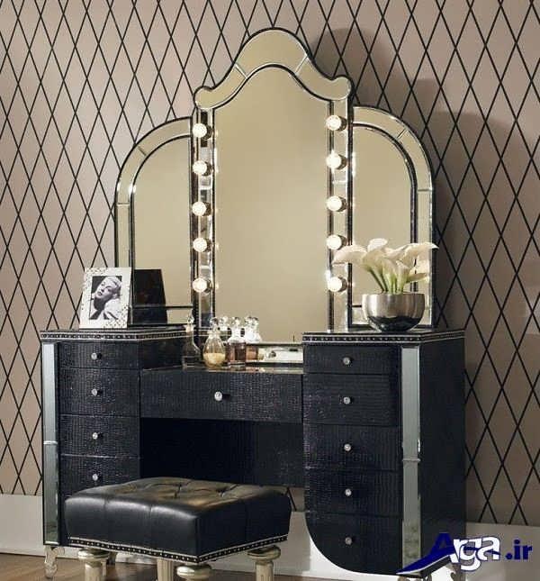 مدل میز آرایش آینه سه تکه ای
