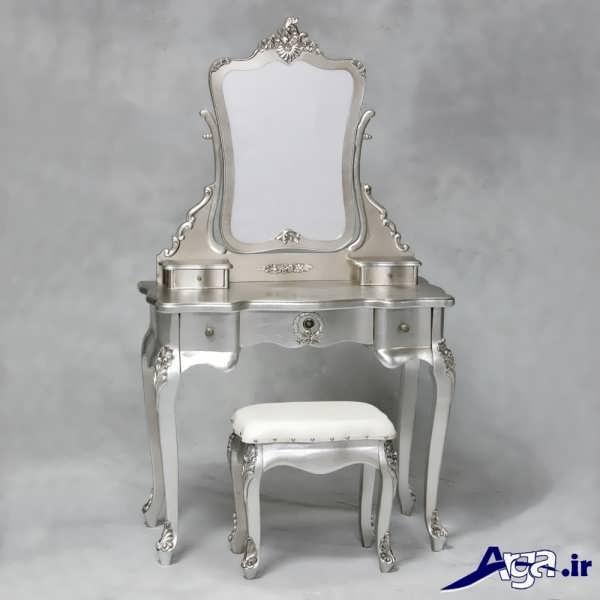 مدل میز آرایش نقره ای