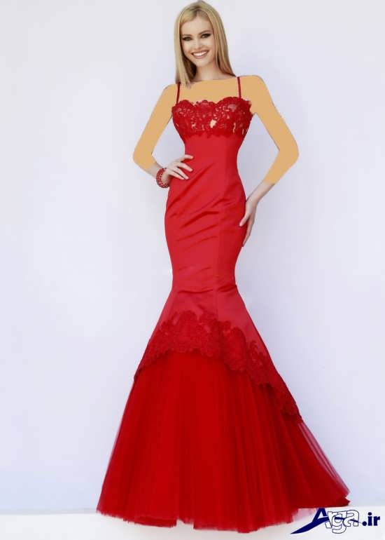 لباس حنابندان قرمز بلند