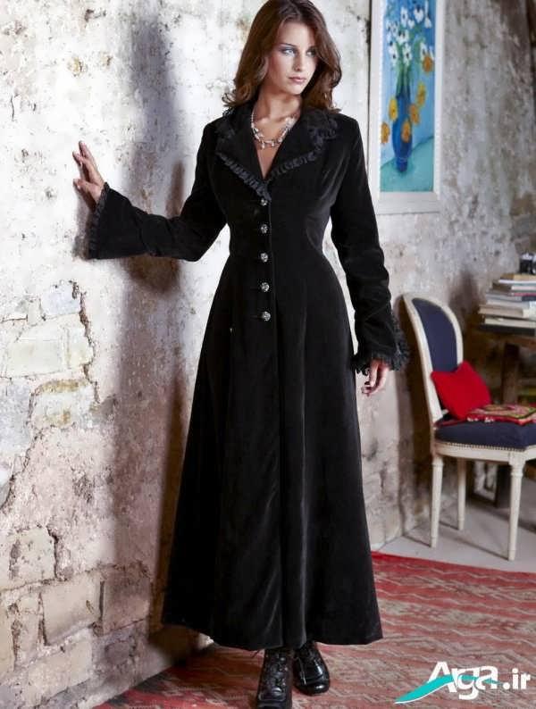 مدل مانتو مخمل بلند زنانه