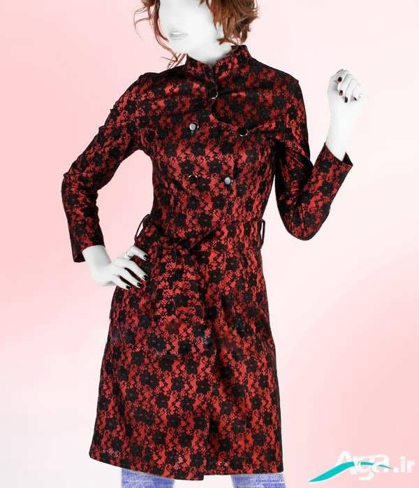 مدل مانتو مخمل قرمز
