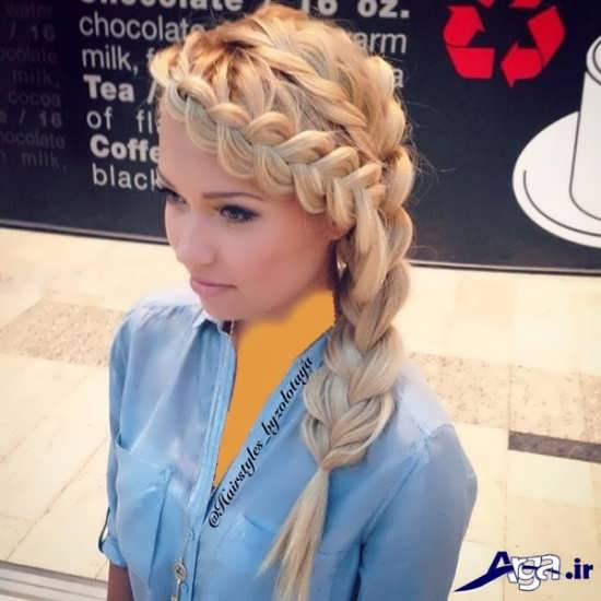 بافت مو جلوی سر برای مو های رنگی