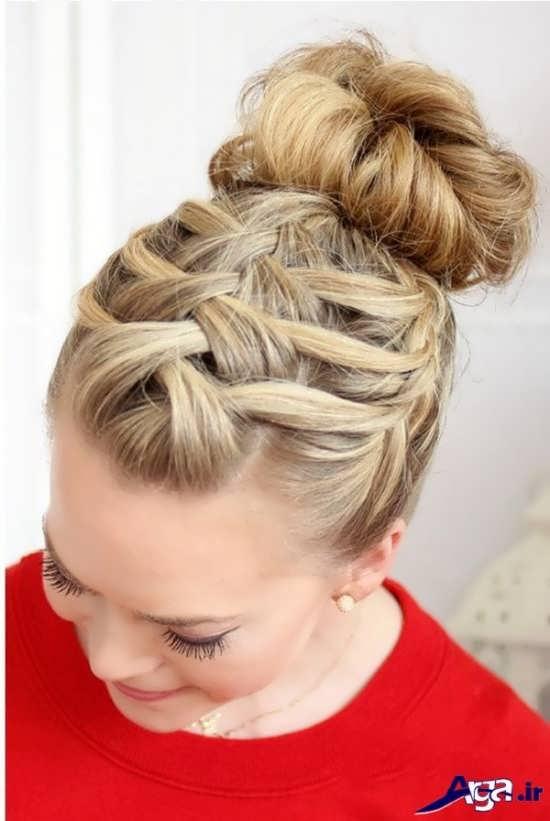بافت مو دخترانه جلوی سر با طرحی متفاوت و ایده آل
