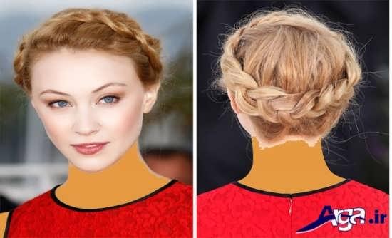 مدل بافت مو ساده برای جلوی سر
