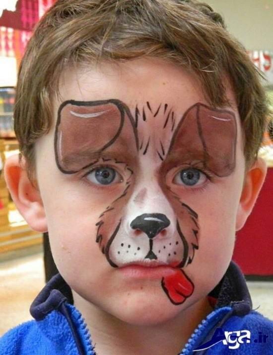 نقاشی روی صورت کودکان