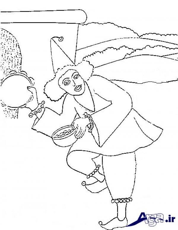 نقاشی عمو نوروز برای کودکان