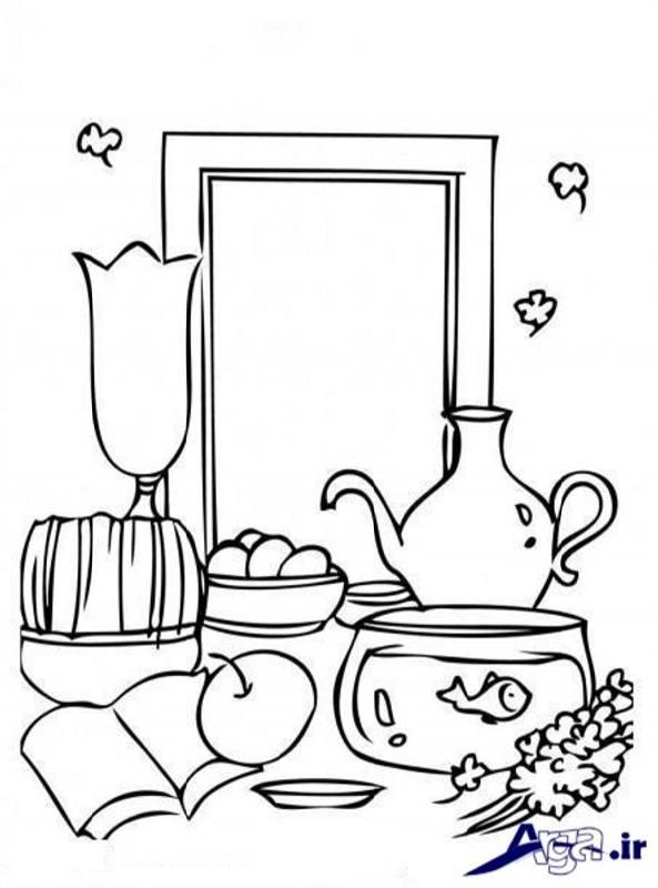 نقاشی زیبا و ساده هفت سین