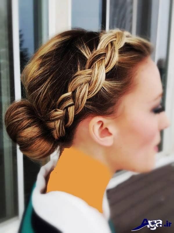 بافت موی تاجی دخترانه
