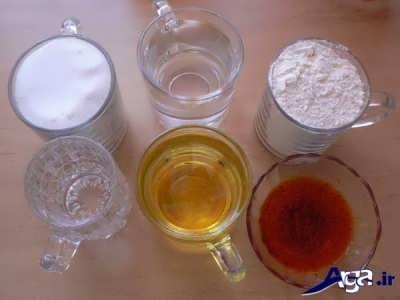 مواد لازم حلوای شیر