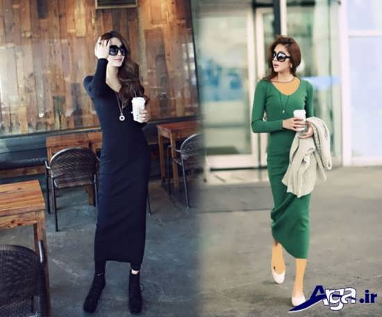 لباس مجلسی بلند زنانه با مدل ساده