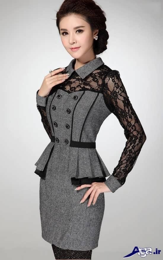 لباس مجلسی خاکستری کره ای