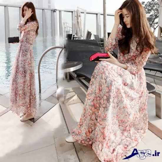 مدل پیراهن بلند کره ای