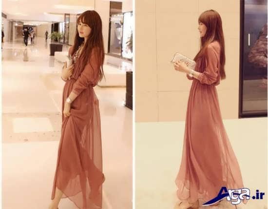لباس مجلسی بلند زنانه با طرح ساده