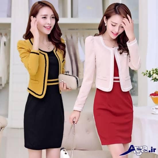 دو مدل متفاوت کت و دامن زنانه به سبک کره ای