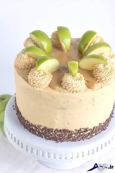 طرز تهیه کیک سیب و تزیین کیک سیب