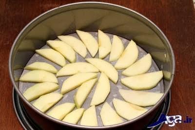 برش هاس سیب در قالب فر