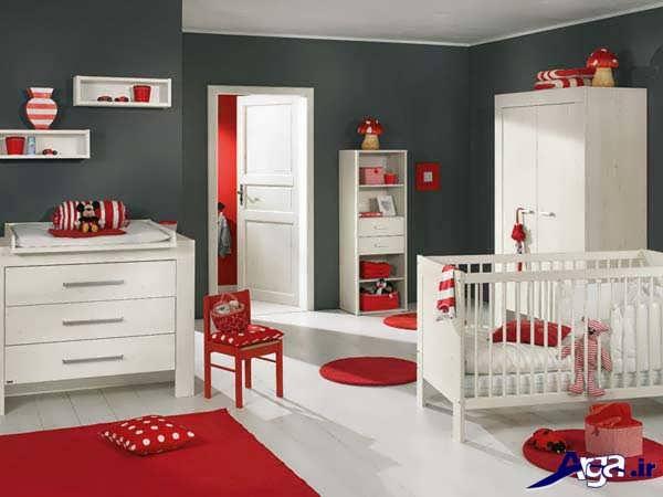 چیدمان اتاق نوزاد دختر