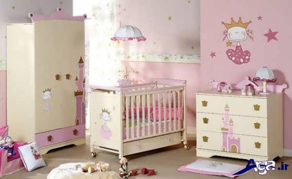 تزیین اتاق نوزاد دختر