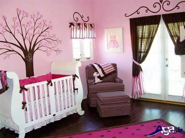دکور اتاق نوزاد دختر