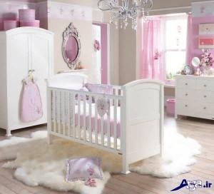 ایده جذاب برای تزیین اتاق نوزاد دختر