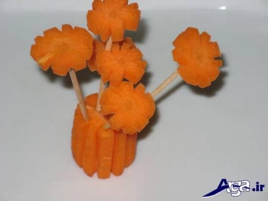 ایده های خلاقانه در تزیین هویج