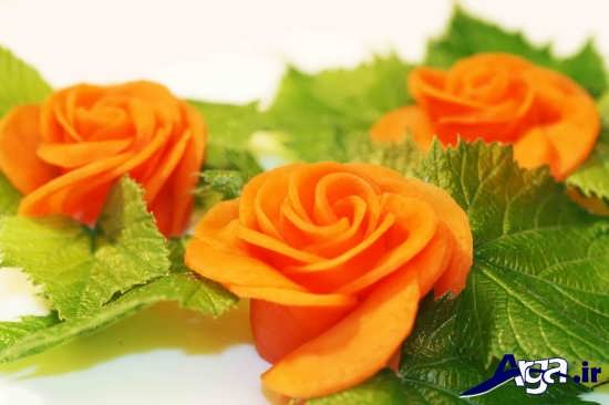 انواع مدل های تزیین خلاقانه و جذاب هویج