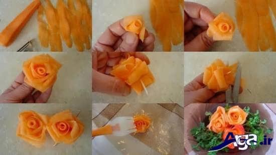 تزیین زیبا و جذاب هویج