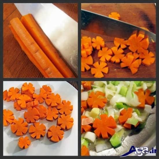 مدل های متنوع تزیین هویج
