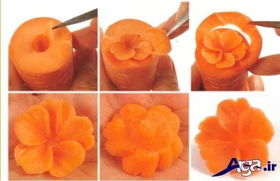 مدل های تزیین به شکل گل هویج
