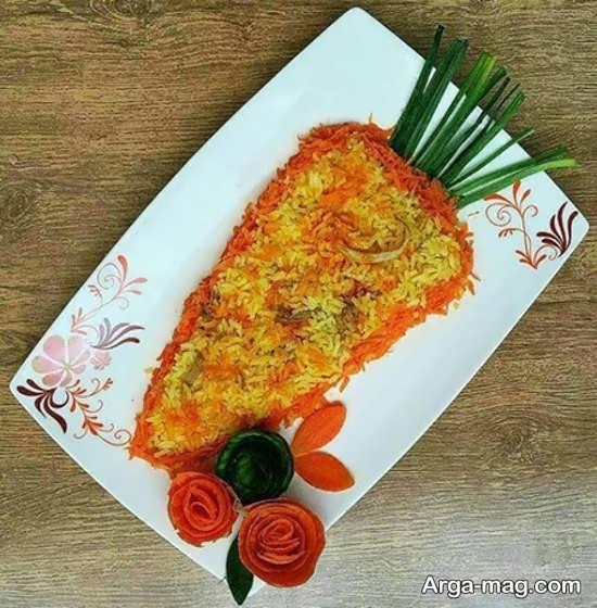 تزیینات غذا با هویج