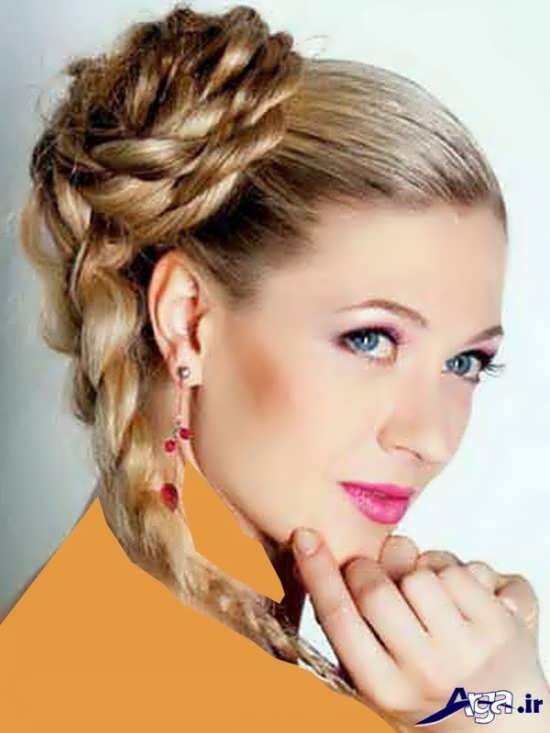 آرایش موی زنانه با طرح گل