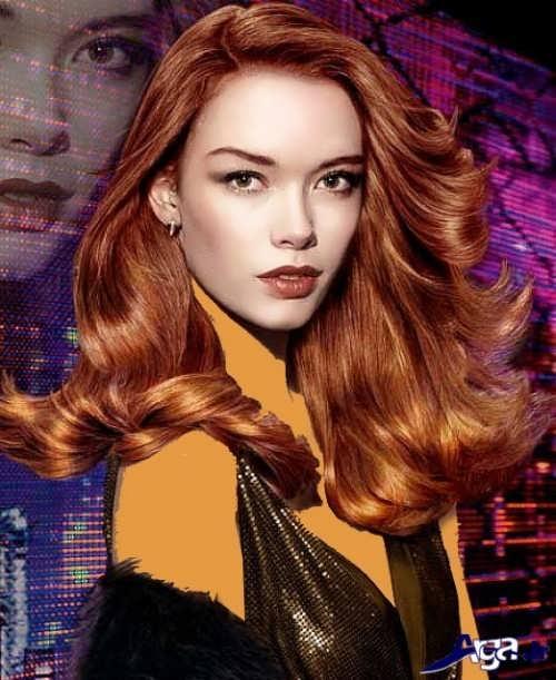 مدل مو زنانه با رنگ مسی