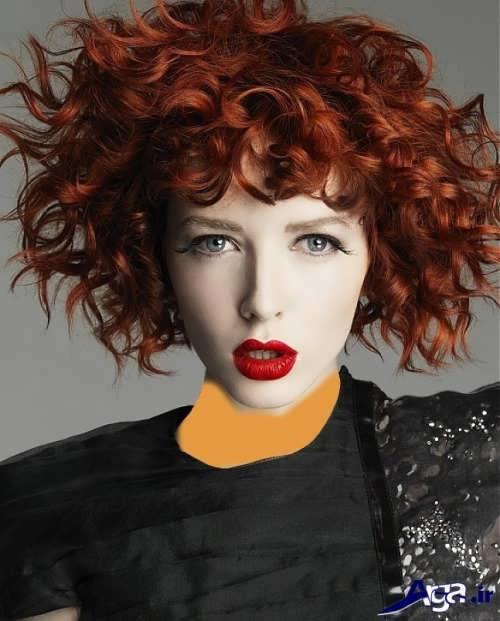 رنگ موی مسی برای مو های فر