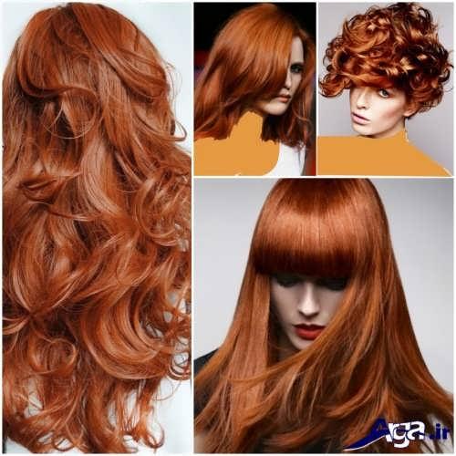 بیش از بیست مدل رنگ مو مسی