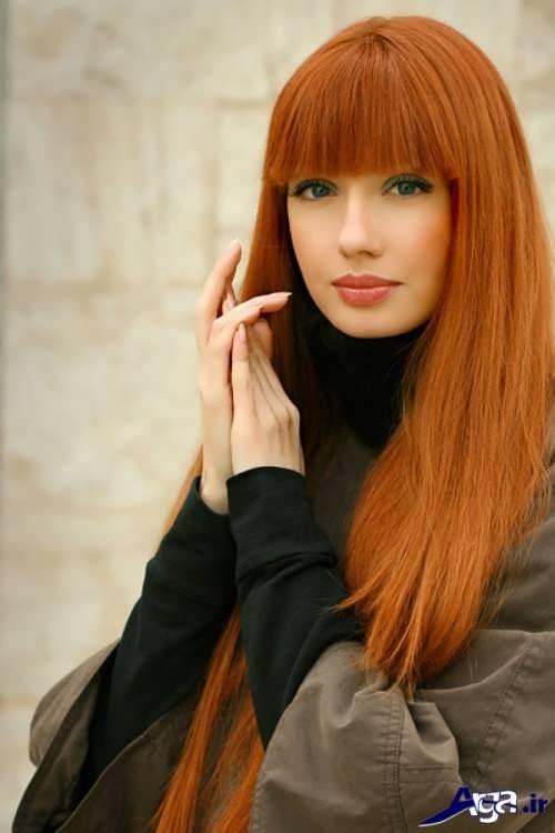 رنگ مو زیبا مسی